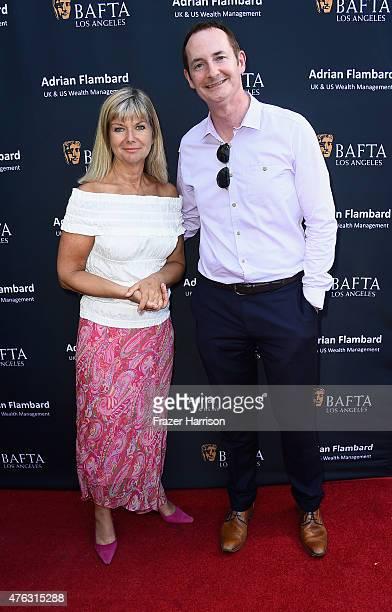 Chantal Rickards and BAFTA LA Chairman of the Board Kieran Breen attend BAFTA LA Garden Party on June 7 2015 in Los Angeles California