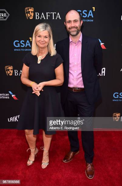 CEO Chantal RIckards and BAFTA LA COO Matthew Wiseman attend the BAFTA Student Film Awards presented by Global Student Accommodation on June 29 2018...