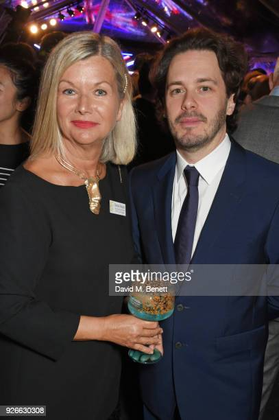 Chantal Rickards CEO of BAFTA Los Angeles and Edgar Wright attend the GREAT British Film Reception honoring the British nominees of The 90th Annual...