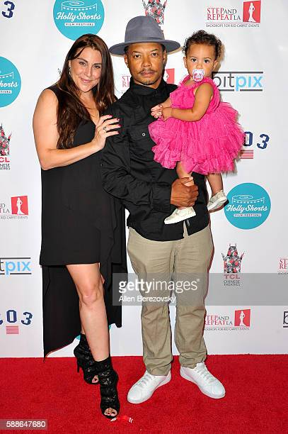 Chantal Robson actor L Philippe Cassius and daughter Samara Cassius attend the 12th Annual HollyShorts Opening Night Celebration at TCL Chinese 6...