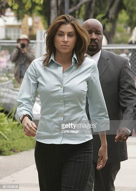 Chantal Robson the potential defense witness in the Michael Jackson child molestation trial arrives at the Santa Barbara County courthouse for the...