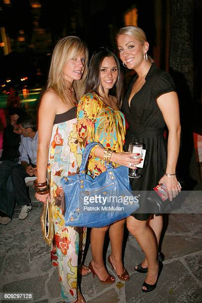 Chantal Rosen Jennifer Dominguez and Bronwen Peach attend Launch of Diane von Furstenberg Soleil Swim and Beach Collection at The Delano on July 13...
