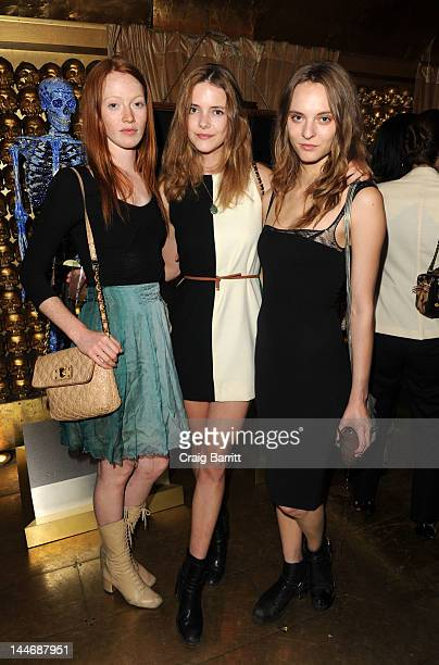 Chantal Stafford Abbott Elyse Saunders and Imogen Morris Clarke attend the Kiehl's Meet Mr Bones Unveiling Party at The Gold Bar on May 16 2012 in...