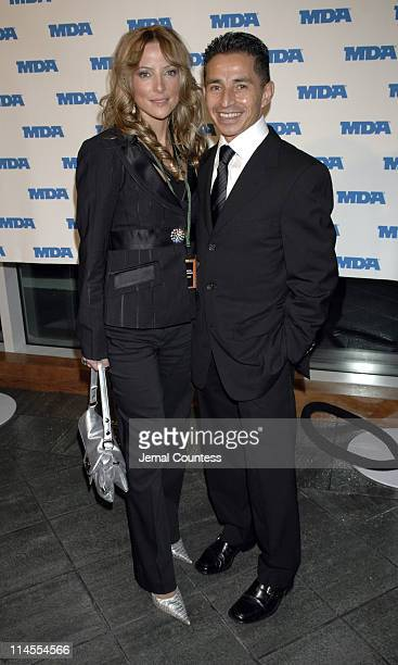 Chantal Sutherland and Jose Santos during The Muscular Dystrophy Association's 10th Annual Muscle Team Gala at Pier 60 at Chelsea Piers in New York...