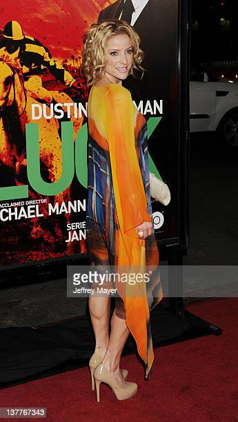 Chantal Sutherland attends the Los Angeles Premiere of HBO's 'LUCK' at Grauman's Chinese Theatre on January 25 2012 in Hollywood California