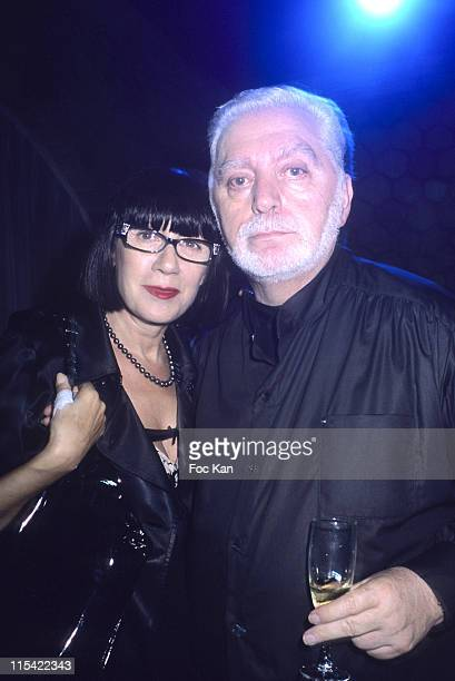 Chantal Thomas and Paco Rabanne during New Mini Austin Cooper Launch Party September 12 2006 at Show Case Club in Paris France