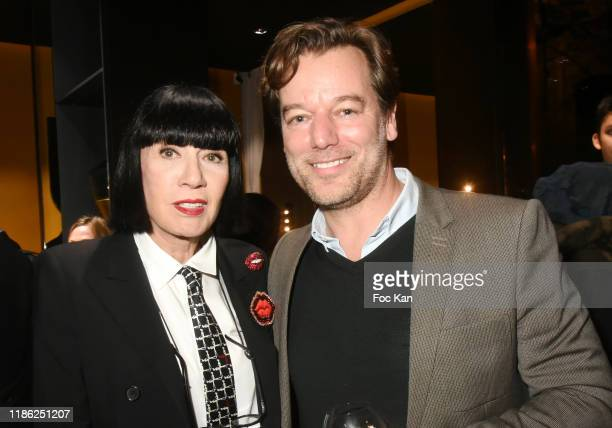 Chantal Thomass and Red Collection CEO Cyril Laborbe attend the Red X BHV Marais Ephemere Boutique Launch Party on November 07 2019 in Paris France