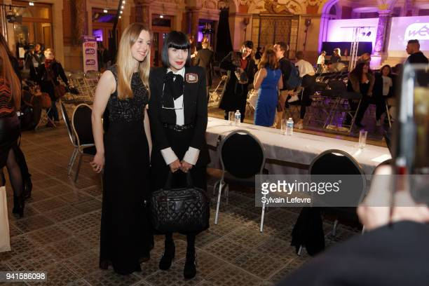 Chantal Thomass attends 25th edition of contest EDHEC Talons Aiguilles Young designer's fashion show on April 3 2018 in Lille France
