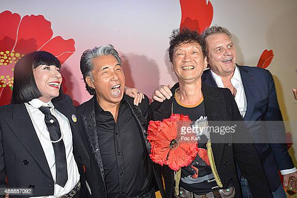 Chantal Thomass Kenzo Takada Irie and Jean Charles de Castelbajac attend the Kenzo Takada Celebrates 50 Years of Life in Paris at Le Pre Catalan on...