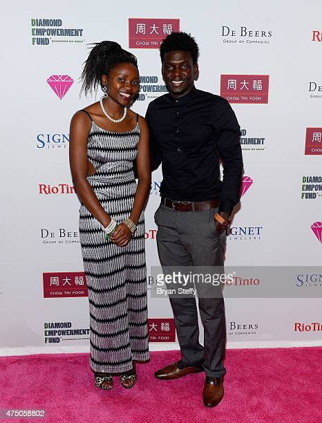 Chantal Uringimana and Oumar Ba attend the Diamond Empowerment Fund presents Diamonds in the Sky at the Four Seasons Hotel Las Vegas on May 28 2015...