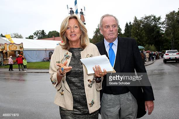Chantal von Hannover attends the wedding of Maria Theresia Princess von Thurn und Taxis and Hugo Wilson at St Joseph Church in Tutzing on September...