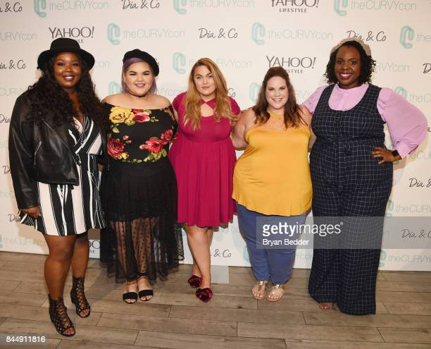 Chante Burkett Ashley Nell Tipton Loey Lane Whitney Way Thore and CeCe Olisa attend 3rd annual theCURVYcon presented by Diaco during New York Fashion...