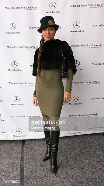 Chante Moore during MercedesBenz Spring 2006 LA Fashion Week at Smashbox Studios Day 3 Arrivals at Smashbox Studios in Culver City California United...