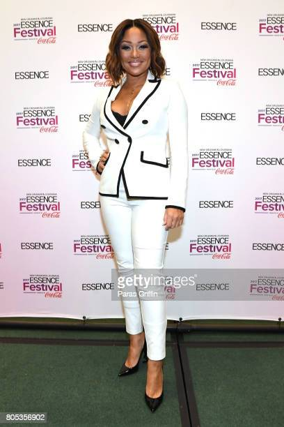 Chante Moore poses in the press room at the 2017 ESSENCE Festival presented by CocaCola at Ernest N Morial Convention Center on July 1 2017 in New...