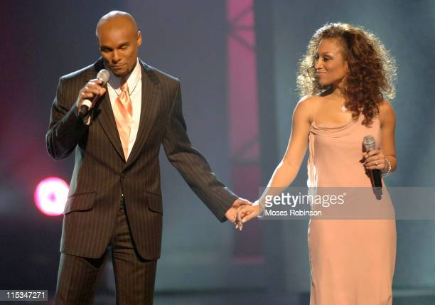 Chante' Moore with Husband Kenny Lattimore during 21st Annual Stellar Awards at The Grand Ole Opry House in Nashville Tennessee United States