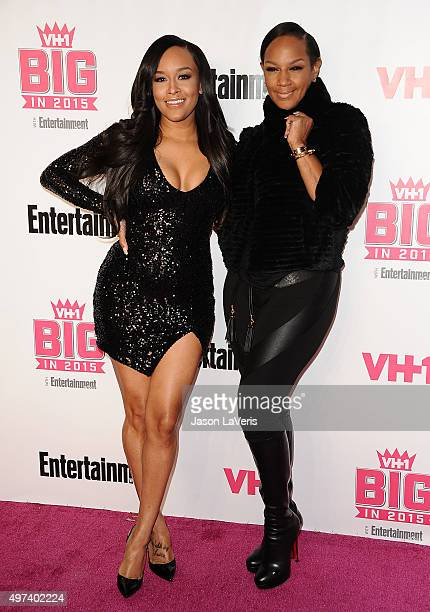 Chantel Christie and Jackie Christie attend the VH1 Big In 2015 with Entertainment Weekly Awards at Pacific Design Center on November 15 2015 in West...