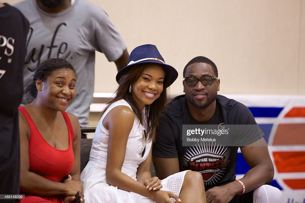 Chantel Christopher, Gabrielle Union and Dwyane Wade at Dwyane Wade's Fourth Annual Fantasy Basketball Camp at Westin Diplomat on August 3, 2014 in Hollywood, Florida.