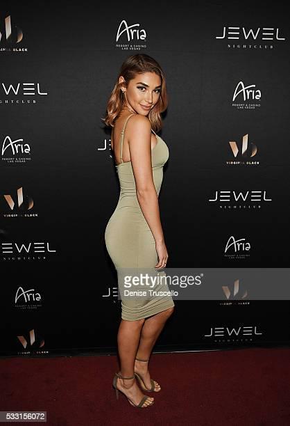Chantel Jeffries arrives at JEWEL Nightclub opening weekend at ARIA Resort Casino on May 21 2016 in Las Vegas Nevada