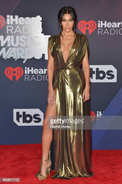 Chantel Jeffries arrives at the 2018 iHeartRadio Music Awards which broadcasted live on TBS TNT and truTV at The Forum on March 11 2018 in Inglewood...