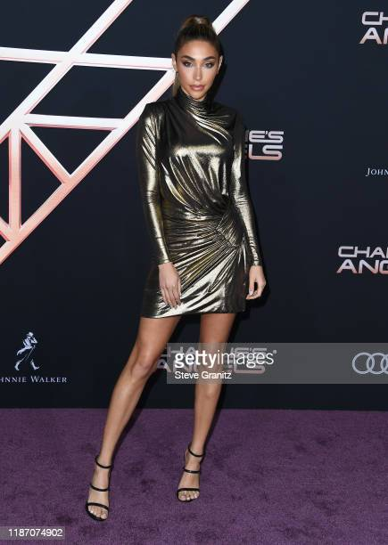 Chantel Jeffries arrives at the Premiere Of Columbia Pictures' Charlies Angels at Westwood Regency Theater on November 11 2019 in Los Angeles...
