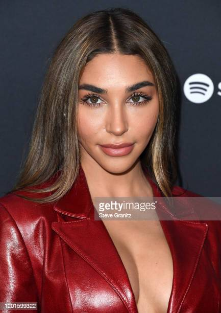 Chantel Jeffries arrives at the Spotify Best New Artist 2020 Party at The Lot Studios on January 23 2020 in Los Angeles California