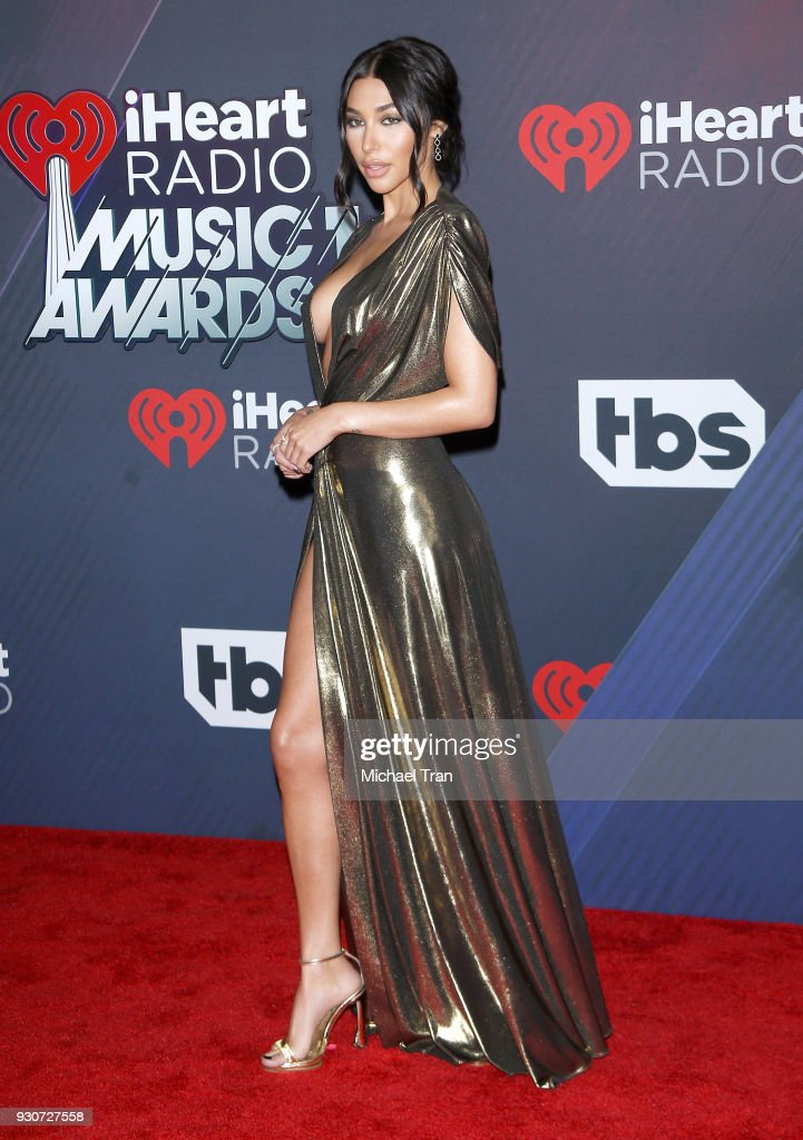 Chantel Jeffries arrives to the 2018 iHeartRadio Music Awards held at The Forum on March 11, 2018 in Inglewood, California.