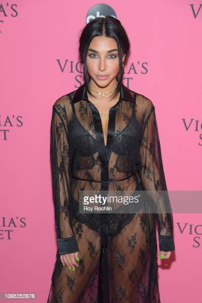 Chantel Jeffries attends the 2018 Victoria's Secret Fashion Show at Pier 94 on November 08 2018 in New York City
