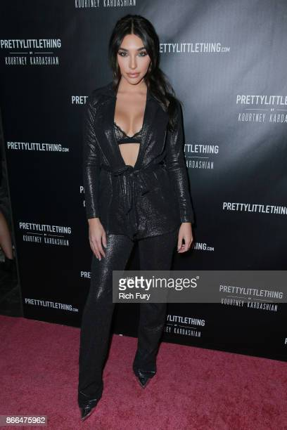 Chantel Jeffries attends the launch of PrettyLittleThing by Kourtney Kardashian on October 25 2017 in Los Angeles California