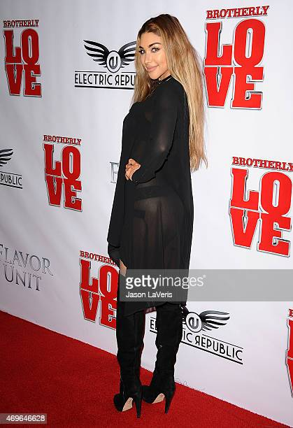 Chantel Jeffries attends the premiere of Brotherly Love at SilverScreen Theater at the Pacific Design Center on April 13 2015 in West Hollywood...