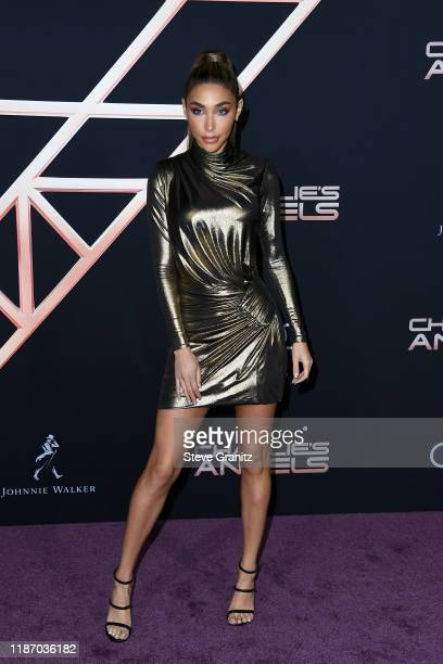 Chantel Jeffries attends the premiere of Columbia Pictures' Charlie's Angels at Westwood Regency Theater on November 11 2019 in Los Angeles California