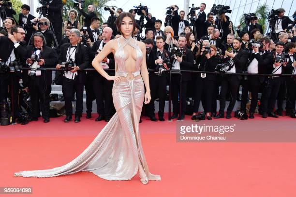 Chantel Jeffries attends the screening of 'Everybody Knows ' and the opening gala during the 71st annual Cannes Film Festival at Palais des Festivals...