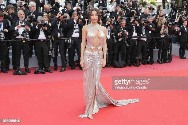 Chantel Jeffries attends the screening of Everybody Knows and the opening gala during the 71st annual Cannes Film Festival at Palais des Festivals on...