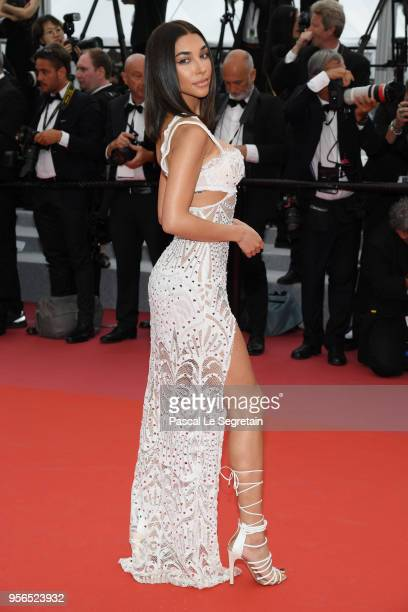 Chantel Jeffries attends the screening of Yomeddine during the 71st annual Cannes Film Festival at Palais des Festivals on May 9 2018 in Cannes France