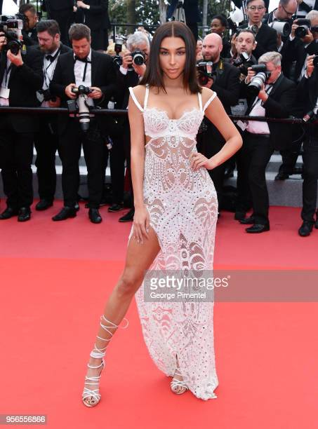"Chantel Jeffries attends the screening of ""Yomeddine"" during the 71st annual Cannes Film Festival at Palais des Festivals on May 9, 2018 in Cannes,..."
