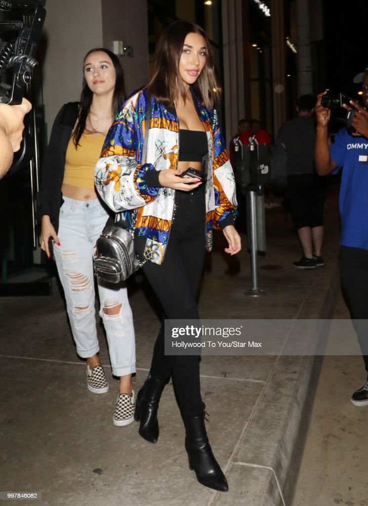 Chantel Jeffries is seen on July 12, 2018 in Los Angeles, California.
