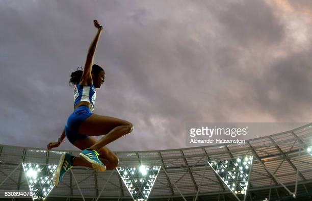 Chantel Malone of British Virgin Islands competes in the Women's Long Jump final during day eight of the 16th IAAF World Athletics Championships...