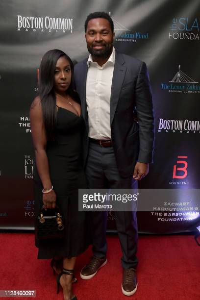 Chantel May and Jerod May atend the 10th Annual Lenny Zakim Fund Casino Night at Four Seasons Hotel on March 2 2019 in Boston Massachusetts