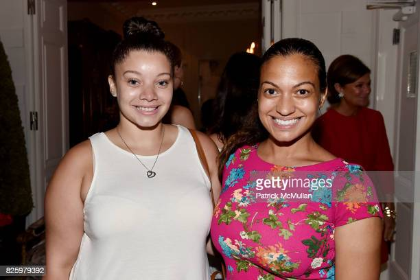 Chantel Morel and Milly Almodovar attend Christmas in August with NEST Fragrances on August 2 2017 in New York City