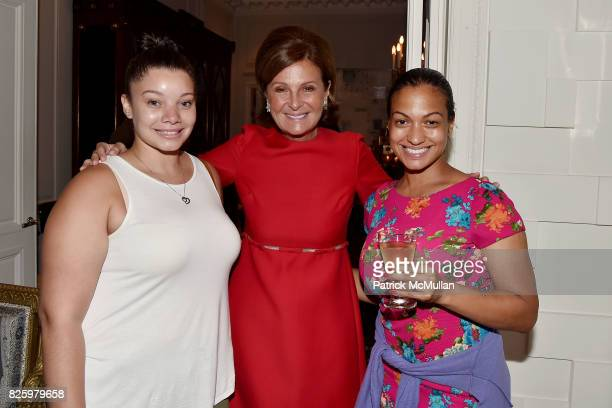 Chantel Morel Nassima Kebir and Milly Almodovar attend Christmas in August with NEST Fragrances on August 2 2017 in New York City