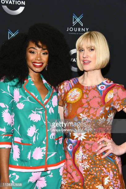 Chantel Riley and Lauren Lee Smith at Ovation Presents Upcoming Programming at 2019 Winter TCA Tour With Julia Stiles Lena Olin Yannick Bisson Lauren...