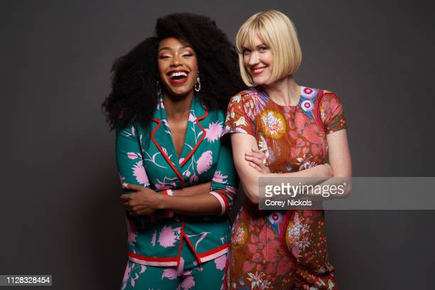 Chantel Riley and Lauren Lee Smith of CBC's 'Frankie Drake Mysteries' pose for a portrait during the 2019 Winter TCA Portrait Studio at The Langham...