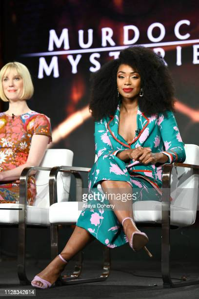 Chantel Riley at Ovation Presents Upcoming Programming at 2019 Winter TCA Tour With Julia Stiles Lena Olin Yannick Bisson Lauren Lee Smith and More...