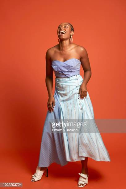 Chantel Riley from Syfy's 'Wynonna Earp' poses for a portrait in the Getty Images Portrait Studio powered by Pizza Hut at San Diego 2018 Comic Con at...