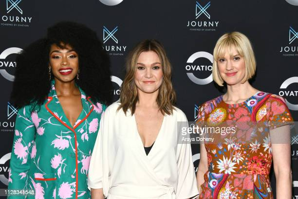 Chantel Riley Julia Stiles and Lauren Lee Smith at Ovation Presents Upcoming Programming at 2019 Winter TCA Tour With Julia Stiles Lena Olin Yannick...