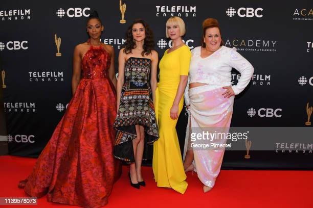 Chantel Riley Rebecca Liddiard Lauren Lee Smith and Sharron Matthews attend the 2019 Canadian Screen Awards Broadcast Gala at Sony Centre for the...