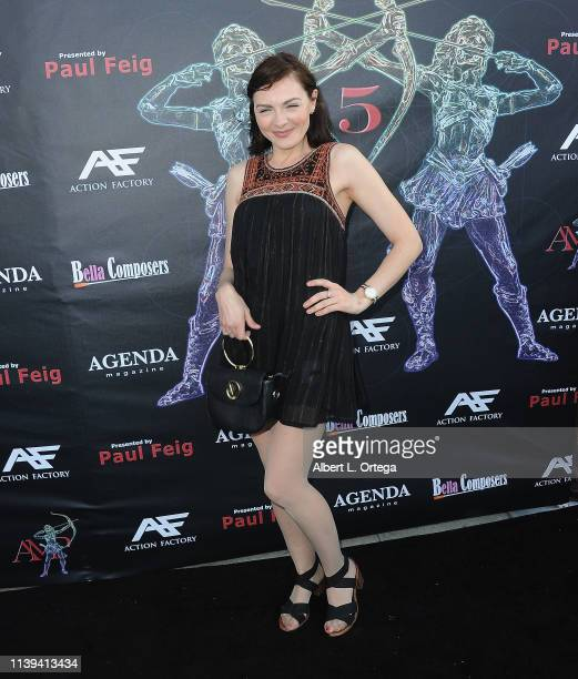 Chantelle Albers arrives for the 2019 Artemis Awards Gala held at Ahrya Fine Arts Theater on April 25, 2019 in Beverly Hills, California.