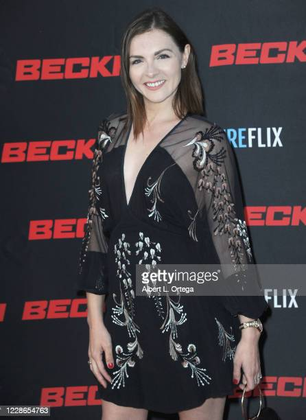 "Chantelle Albers arrives for the premiere of ""Beckman"" at Hilton Los Angeles/Universal City on September 21, 2020 in Universal City, California."