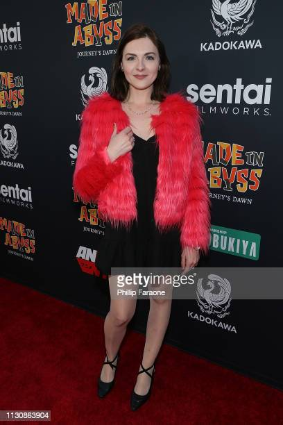 Chantelle Albers attends MADE IN ABYSS Journey's Dawn North American premiere at Regal Cinemas LA LIVE Stadium 14 on March 15 2019 in Los Angeles...