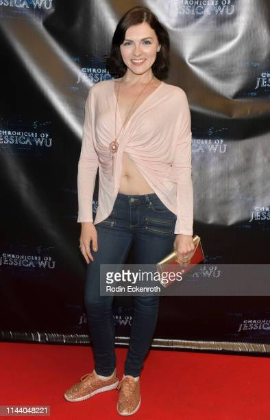 Chantelle Albers attends the Chronicles of Jessica Wu Season 2 premiere at SAGAFTRA Foundation Screening Room on April 20 2019 in Los Angeles...