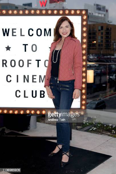 Chantelle Albers attends the Rooftop Cinema Club Premiere Night at NeueHouse Los Angeles on March 19, 2019 in Hollywood, California.
